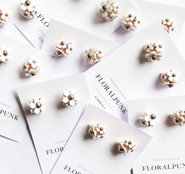jewels daisy marc jacobs white gold earrings