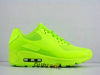 shoes neon nike neon yellow trainers nike air max 90