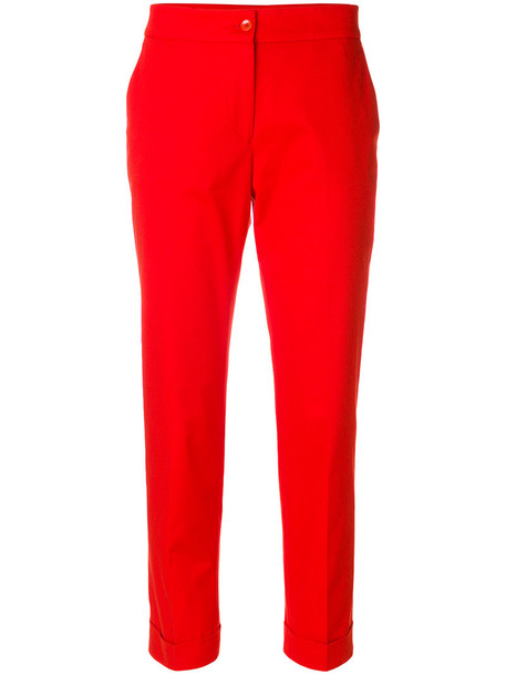 ETRO women spandex cotton red pants