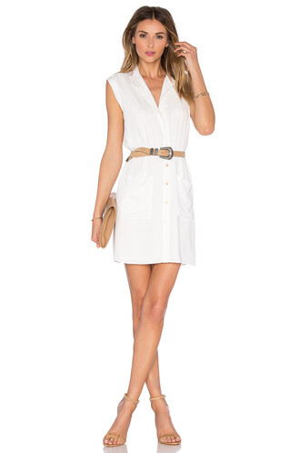 dress shirt dress sleeveless white