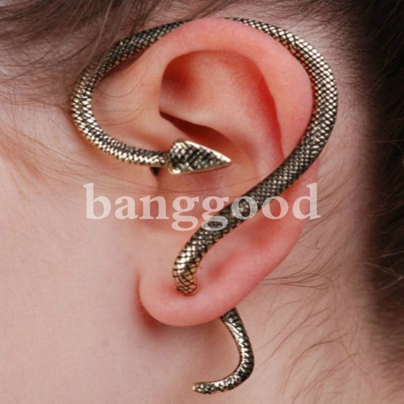 jewels ear cuff earrings rock punk banggood snake print pants