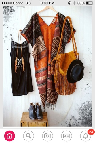 cardigan aztec tribal pattern tribal cardigan aztec sweater boho boho dress boho chic kimono black dress fringed bag little black dress shift dress