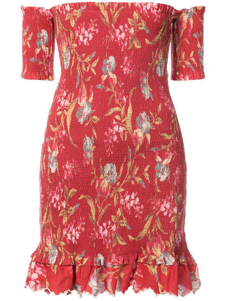 Zimmermann dress floral dress women floral cotton red