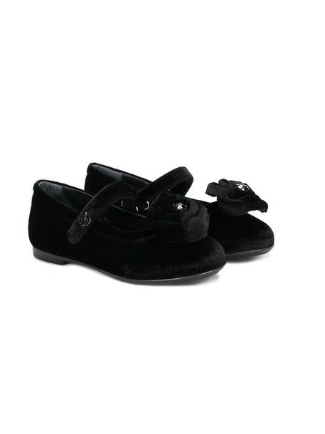 Miss Blumarine leather cotton black shoes