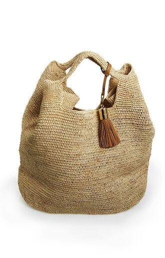 bag tote bag straw bag straw raffia bag raffia tassel