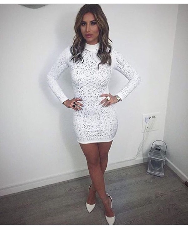 476cba23810 dress cute dress summer dress white dress sexy dress party dress short dress  long sleeves long.