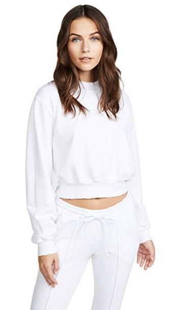 Cotton Citizen sweatshirt cropped white sweater