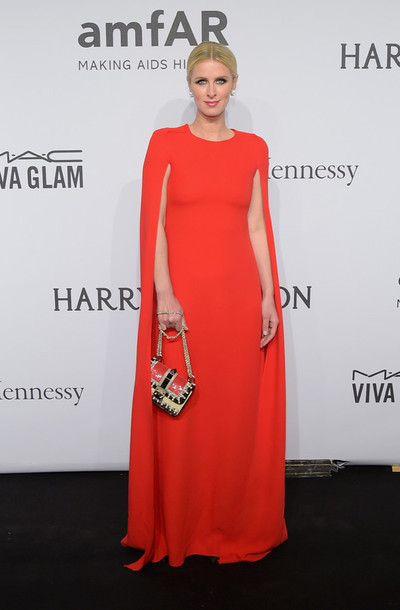 dress gown red nicky hilton red dress
