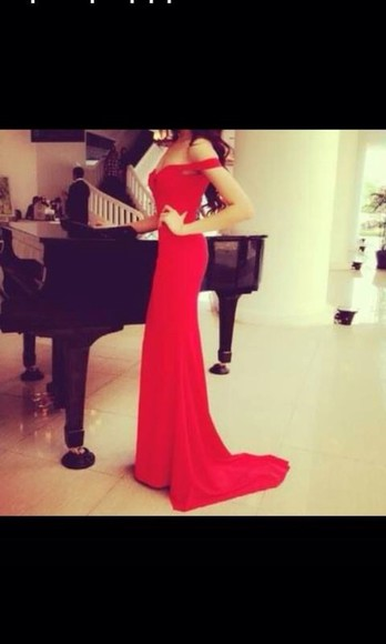 formal dress long red dress sleeveless dress dress