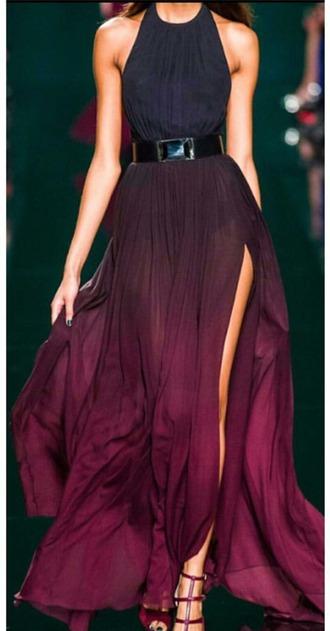 dress puple red ombre homecoming dress beautiful ombre dress galaxy dress