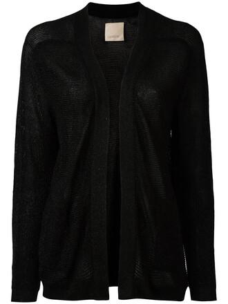 cardigan open women black sweater
