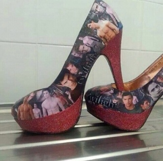 shoes high heels beautiful  twilight taylor lautner kristen stewart robert pattinson