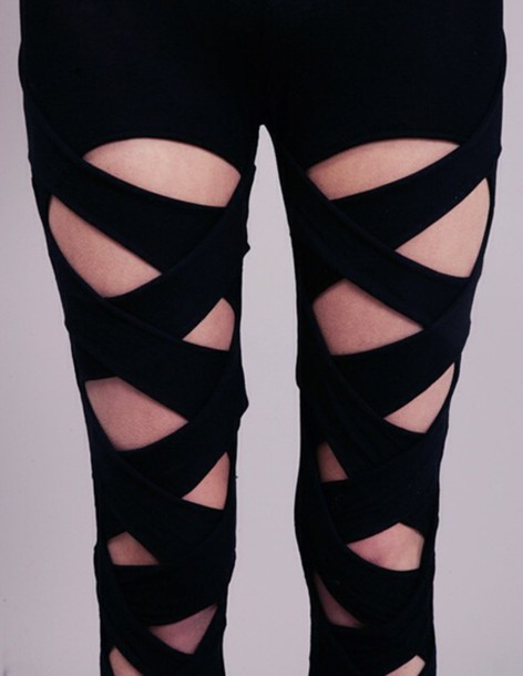 leggings tights black pants cool style