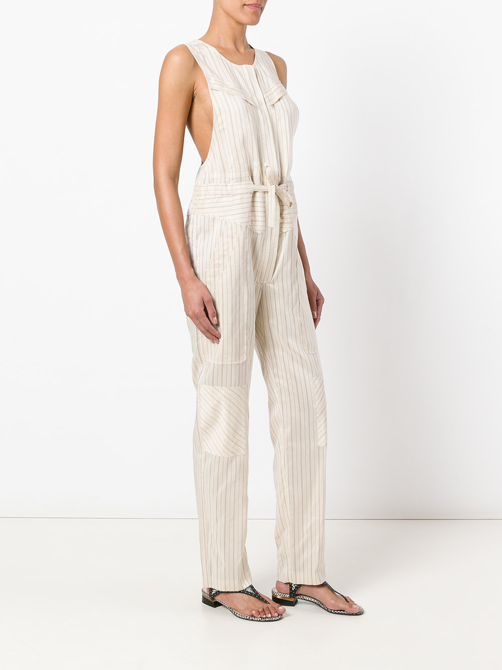 Isabel Marant Suiting Stripe Sleeveless Jumpsuit - Farfetch