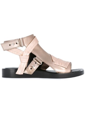 women sandals leather purple pink shoes