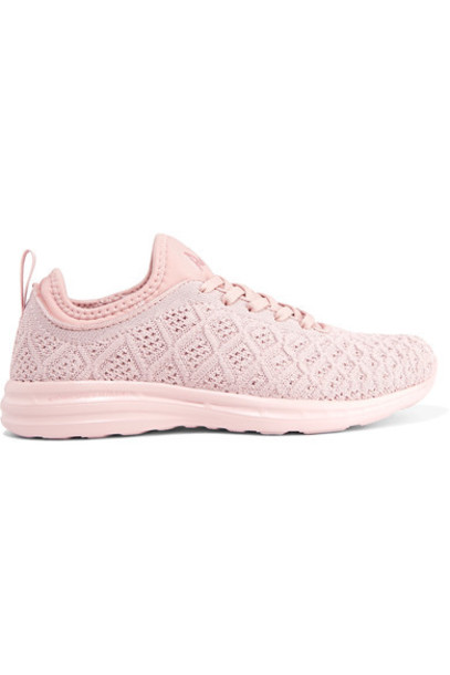 APL Athletic Propulsion Labs mesh sneakers blush shoes