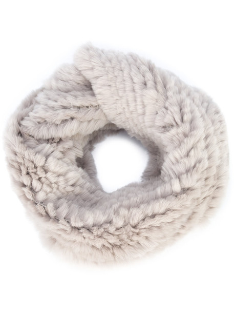 Jocelyn fur women infinity scarf infinity scarf cotton grey
