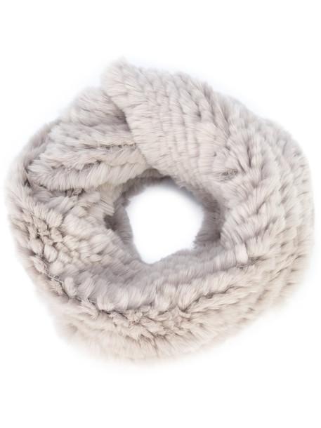 fur women infinity scarf infinity scarf cotton grey