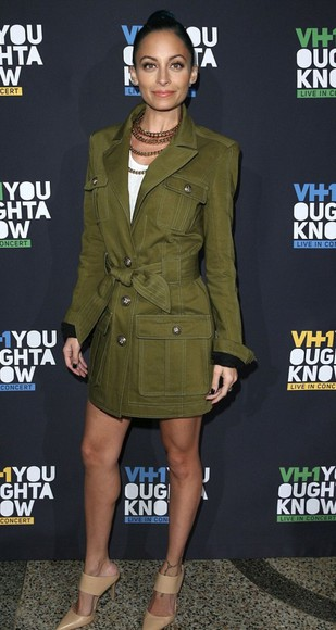 nicole richie jacket coat fall outfits military