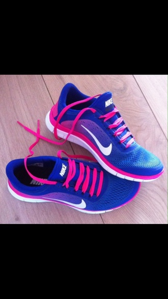 shoes pink shoes pink blue running nike running shoes