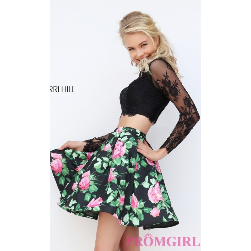 d0be6db3352 Short Two Piece Floral Print Prom Dress by Sherri Hill - Discount ...