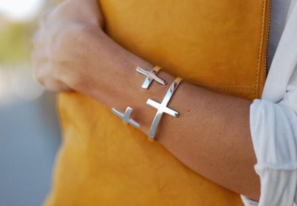bracelets bracelets cross silver cuff jewels