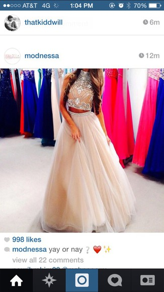 sparkle formal two-piece long prom dress crop tops embrodering modnessa prom dresses 2014 prom dresses long