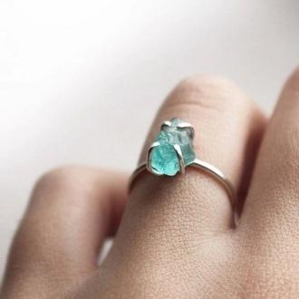 jewels minimalist jewelry crystal quartz gemstone ring blue wedding accessory