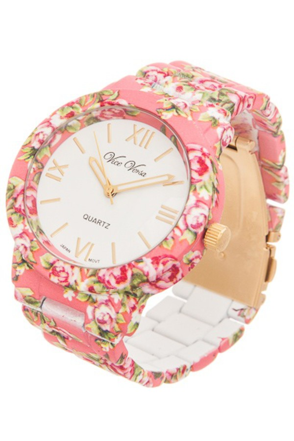 jewels watch floral jewelry