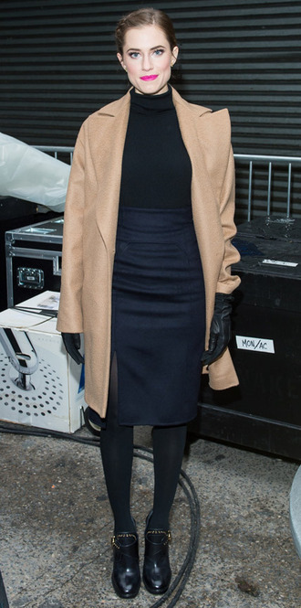 allison williams coat trench coat fall outfits
