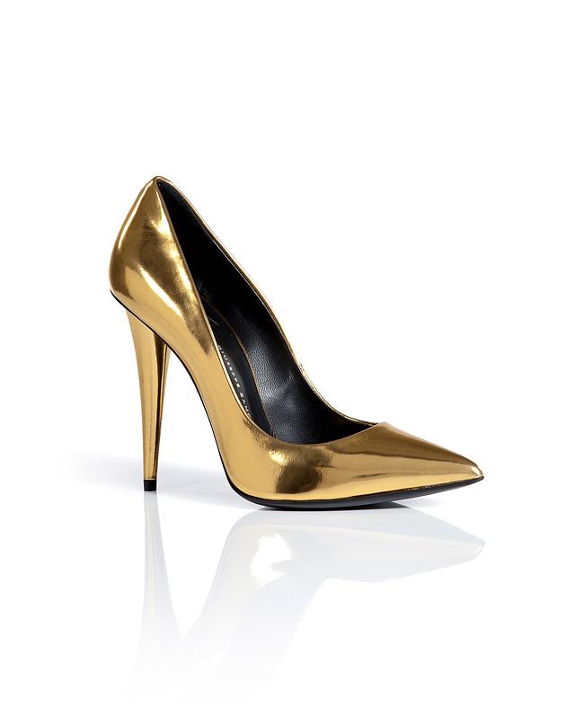 BoxcalfPointedToePumpsinGoldMetallicfromGIUSEPPEZANOTTI | Luxury fashion online | STYLEBOP.com