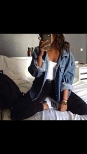 jacket,jeans,denim jacket,denim,girl,women,new,blue,long,long jacket,beautiful,oversized,casual,ripped,destroyed denim