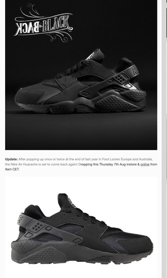 shoes nike huaraches black triple black nike