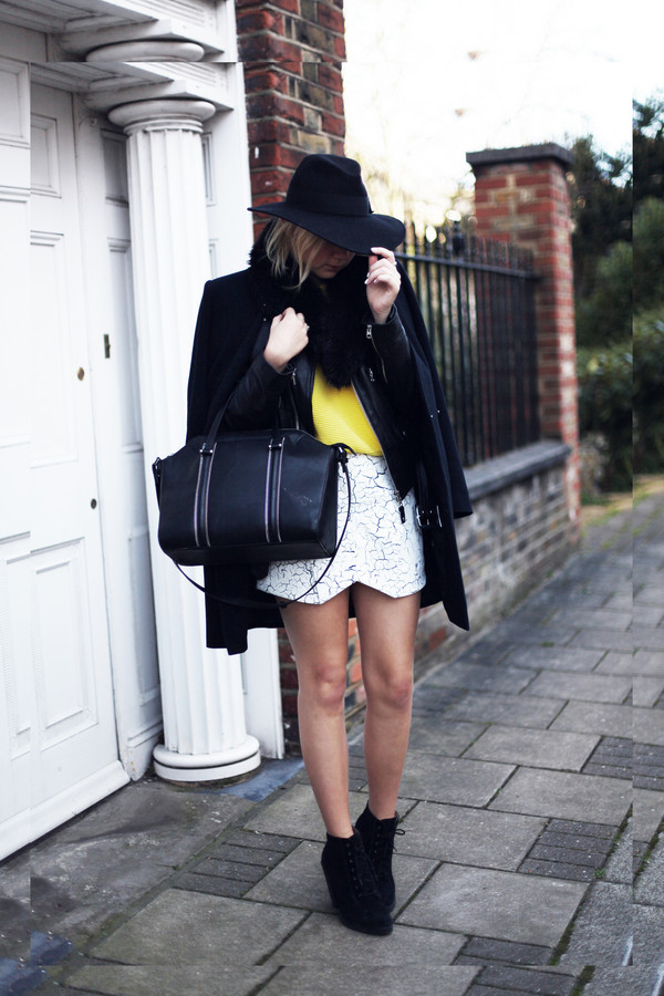 into the fold skirt sweater coat bag shoes jacket hat