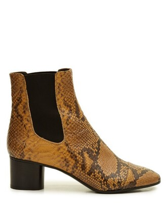 snake boots chelsea boots leather python shoes