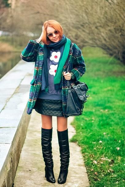gvozdishe coat sweater skirt shoes jewels scarf sunglasses