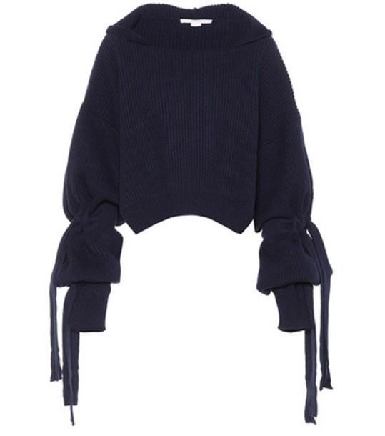 Stella McCartney sweater wool sweater wool blue