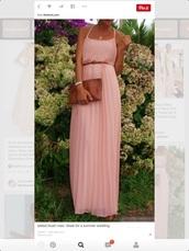 dress,blush pink,maxi dress