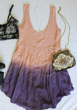 dress ombre dress summer dress kendall jenner bag