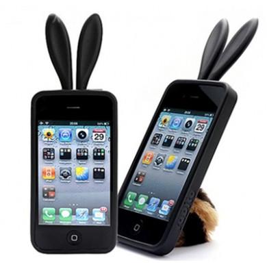 Coque iphone 4 rabito noir