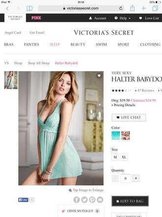 underwear victoria's secret sexy style nightie