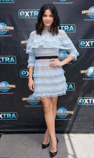 dress mini dress jenna dewan pumps baby blue lace dress lace