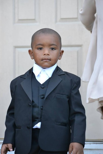 Jacket Vest Button Up Wedding Black White Celebrity Kid