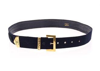 belt logo belt chanel vintage gold black belt black