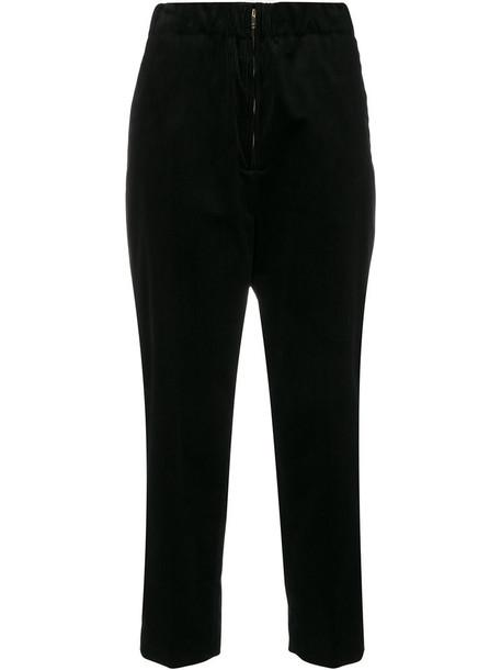 Sofie D'hoore cropped women cotton black pants