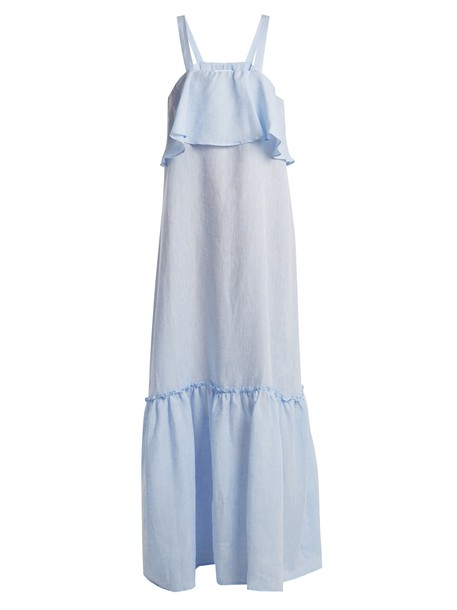 dress maxi dress maxi cotton blue