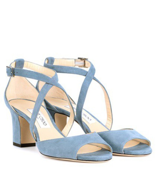 Jimmy Choo sandals suede blue shoes