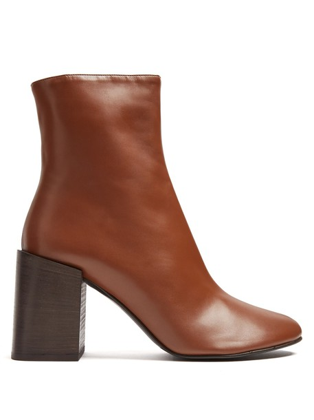 Acne Studios heel leather ankle boots ankle boots leather tan shoes