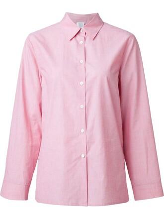 shirt classic purple pink top