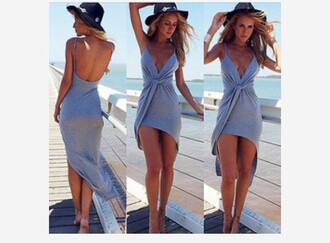 dress maxi dress grey dress summer dress flowy dress cotton short dress fashion v neck dress sexy dress club dress spaghetti strap beach midi dress